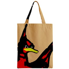 Angry Bird Zipper Classic Tote Bag by Valentinaart