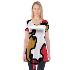 Artistic cow Short Sleeve Tunic  by Valentinaart
