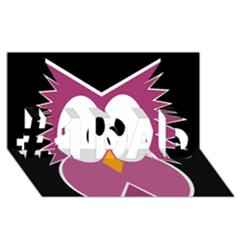 Pink Owl #1 Dad 3d Greeting Card (8x4)