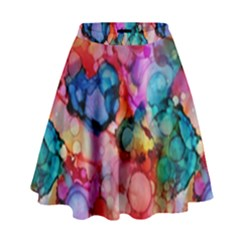 Rainbow Ocean  High Waist Skirt by KirstenStar