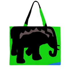 Elephand Large Tote Bag by Valentinaart