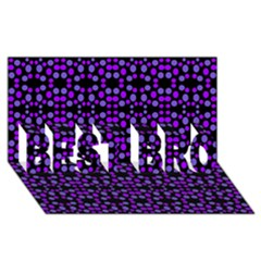 Dots Pattern Purple Best Bro 3d Greeting Card (8x4) by BrightVibesDesign