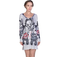Horror Trifecta Plushie  Long Sleeve Nightdress by lvbart