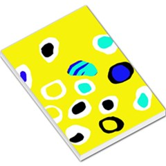 Yellow abstract pattern Large Memo Pads by Valentinaart