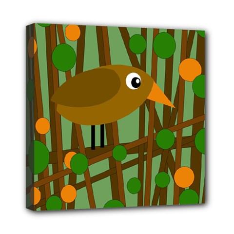 Brown Bird Mini Canvas 8  X 8  by Valentinaart