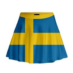 Flag of Sweden Mini Flare Skirt