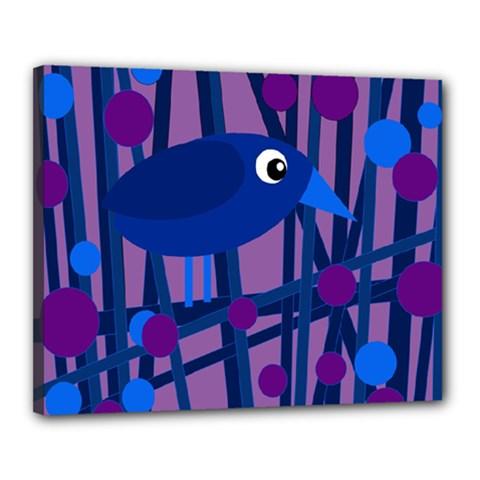 Purple Bird Canvas 20  X 16  by Valentinaart
