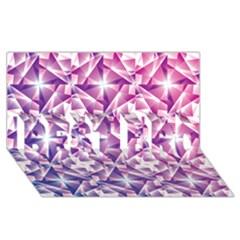 Purple Shatter Geometric Pattern Best Bro 3d Greeting Card (8x4) by TanyaDraws