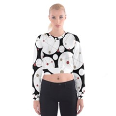 Decorative circles Women s Cropped Sweatshirt by Valentinaart