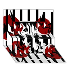 Red, Black And White Elegant Design You Rock 3d Greeting Card (7x5) by Valentinaart