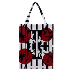Red, Black And White Elegant Design Classic Tote Bag by Valentinaart