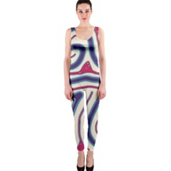 Blue and red lines OnePiece Catsuit by Valentinaart