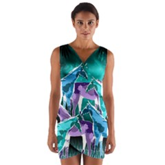 Horses Under A Galaxy Wrap Front Bodycon Dress by DanaeStudio