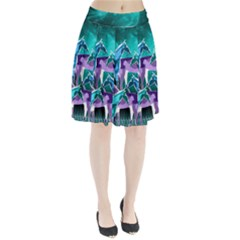 Horses Under A Galaxy Pleated Skirt by DanaeStudio