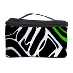 Green, Black And White Abstract Art Cosmetic Storage Case by Valentinaart
