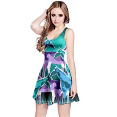 Horses Under A Galaxy Reversible Sleeveless Dress by DanaeStudio