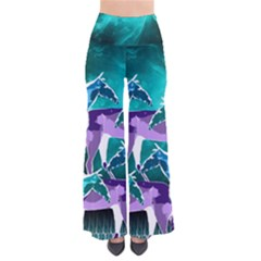 Horses Under A Galaxy Women s Chic Palazzo Pants  by DanaeStudio