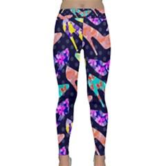 Colorful High Heels Pattern Yoga Leggings  by DanaeStudio