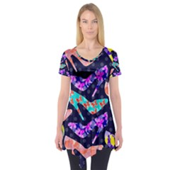 Colorful High Heels Pattern Short Sleeve Tunic  by DanaeStudio