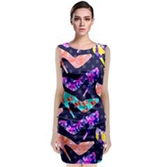 Colorful High Heels Pattern Classic Sleeveless Midi Dress by DanaeStudio