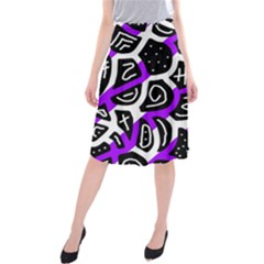Purple Playful Design Midi Beach Skirt by Valentinaart