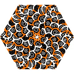 Orange Playful Design Mini Folding Umbrellas by Valentinaart