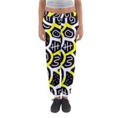 Yellow Playful Design Women s Jogger Sweatpants by Valentinaart