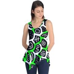 Green Playful Design Sleeveless Tunic
