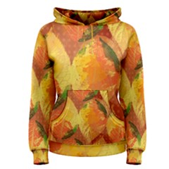 Fall Colors Leaves Pattern Women s Pullover Hoodie by DanaeStudio