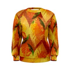 Fall Colors Leaves Pattern Women s Sweatshirt by DanaeStudio
