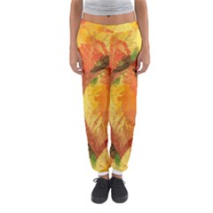 Fall Colors Leaves Pattern Women s Jogger Sweatpants by DanaeStudio