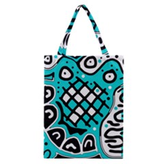 Cyan High Art Abstraction Classic Tote Bag by Valentinaart