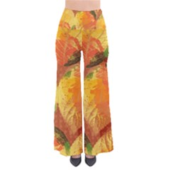 Fall Colors Leaves Pattern Women s Chic Palazzo Pants  by DanaeStudio