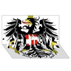 Coat Of Arms Of Austria Believe 3d Greeting Card (8x4) by abbeyz71