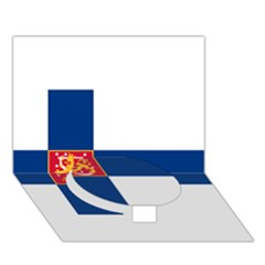 State Flag of Finland  Circle Bottom 3D Greeting Card (7x5)