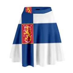 State Flag of Finland  High Waist Skirt by abbeyz71