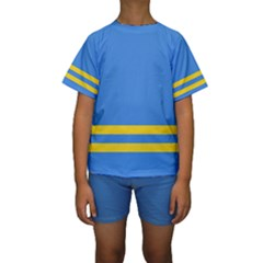Flag of Aruba Kid s Short Sleeve Swimwear by abbeyz71