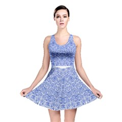 Blue And White Reversible Skater Dress by olgart