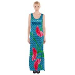 Carnations Maxi Thigh Split Dress by DanaeStudio