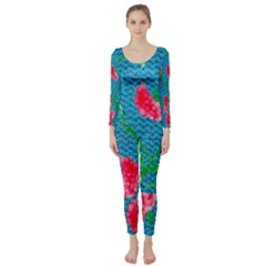 Carnations Long Sleeve Catsuit by DanaeStudio