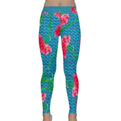 Carnations Yoga Leggings  by DanaeStudio