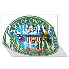 Seal of Chicago Congrats Graduate 3D Greeting Card (8x4) by abbeyz71