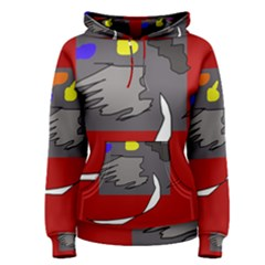Red Abstraction By Moma Women s Pullover Hoodie by Valentinaart