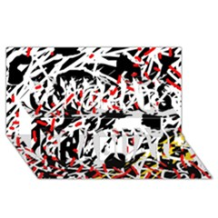 Colorful chaos by Moma Congrats Graduate 3D Greeting Card (8x4) by Valentinaart