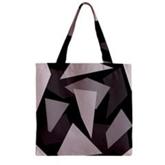 Simple Gray Abstraction Zipper Grocery Tote Bag by Valentinaart