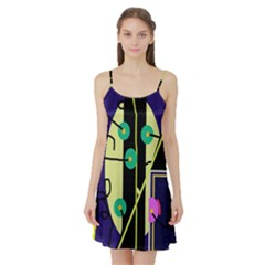 Crazy abstraction by Moma Satin Night Slip by Valentinaart