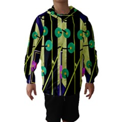 Crazy abstraction by Moma Hooded Wind Breaker (Kids) by Valentinaart