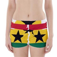 Flag Map Of Ghana Boyleg Bikini Wrap Bottoms