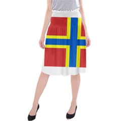 Flag Of Orkney Midi Beach Skirt