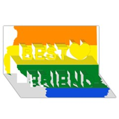 Lgbt Flag Map Of Illinois Best Friends 3d Greeting Card (8x4) by abbeyz71